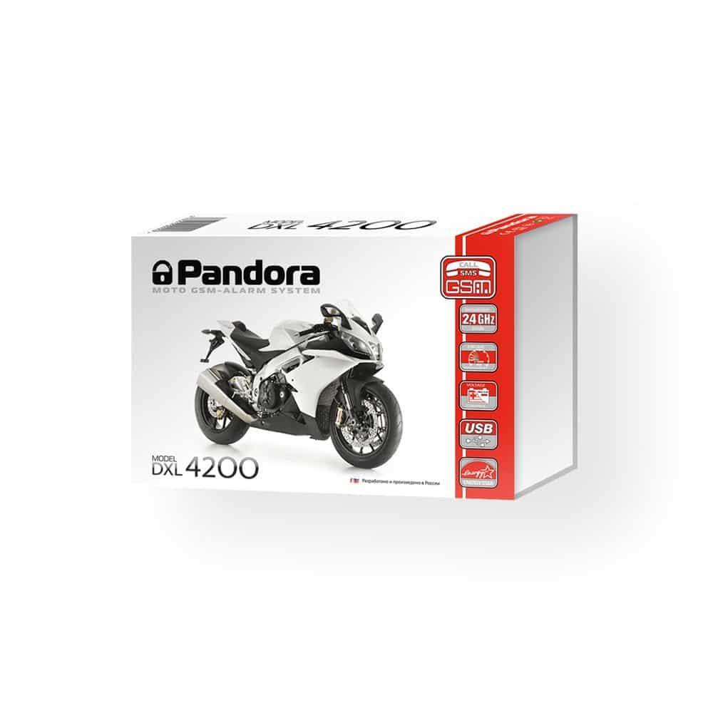 Мотосигнализация Pandora DXL 4200 для защиты мототехники и квадроциклов, GSM, автозапуск, Hands Free