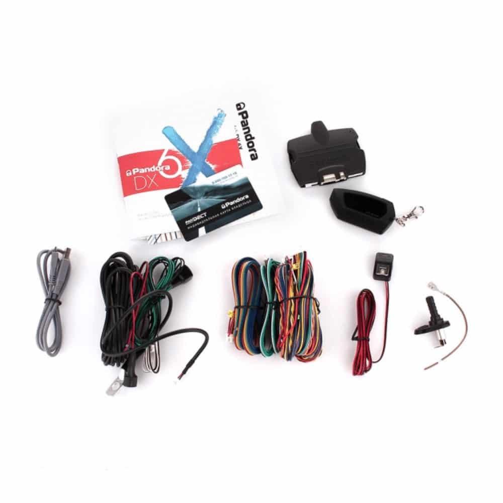Автосигнализация Pandora DX-6X, турботаймер 2CAN, LIN, IMMO-KEY, охранная система dx 6x, ЖК-брелок d010, управление по Bluetooth