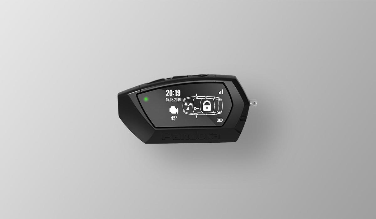 Брелок LCD D022 black