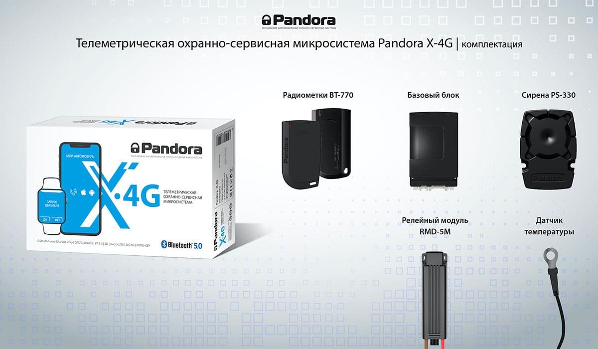 Старт продаж охранной системы Pandora X-4G 2