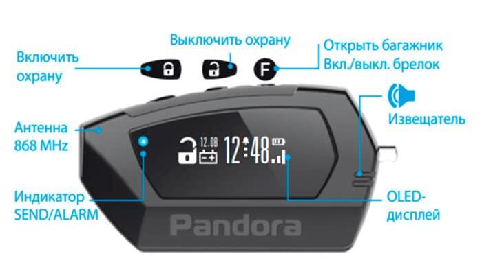 Брелок автосигнализации Pandora DX-57