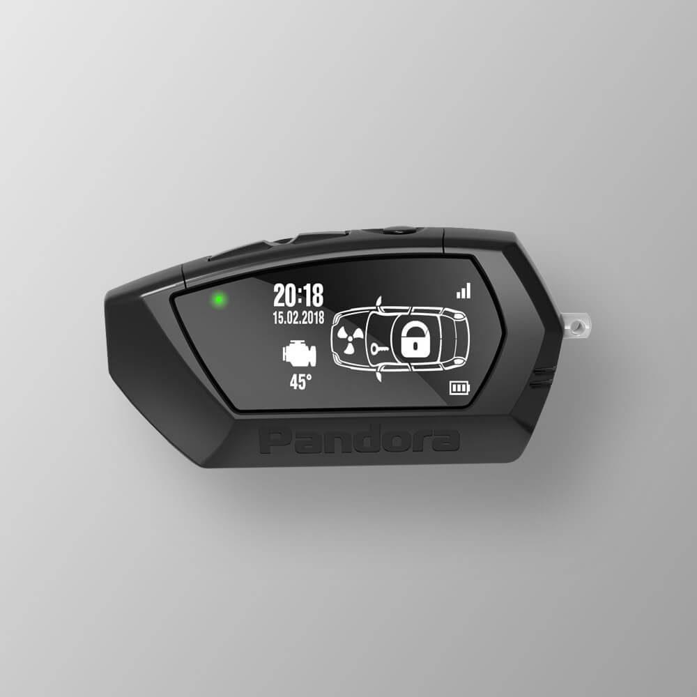 Брелок LCD D020 black