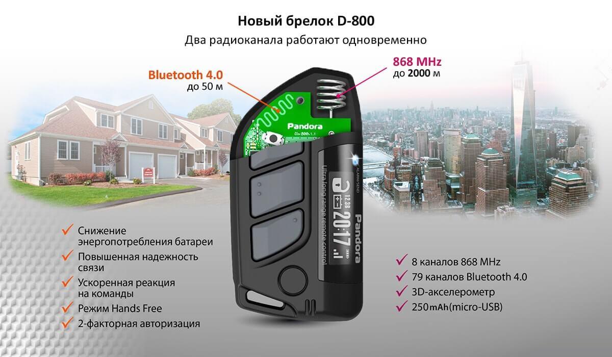Новый брелок D-800 Два радиоканала работают одновременно