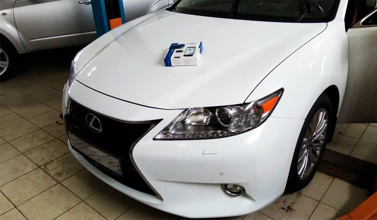 Процесс установки автосигнализации на Автомобиль Lexus ES 250